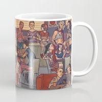 cargline Mugs featuring Clint's Coffee by cargline