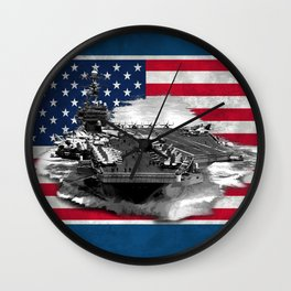 Nimitz Class Aircraft Carrier Wall Clock