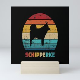 Schipperke vintage Mini Art Print