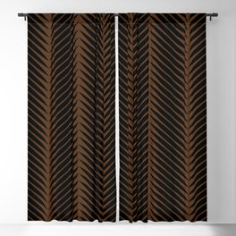 Palm Symmetry - Dark Earth Blackout Curtain