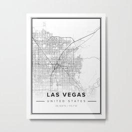 Las Vegas Modern Map Metal Print