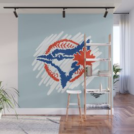 Scribbles - Jays Wall Mural