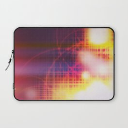 An abstract futuristic background with grid and burns or blast.  Laptop Sleeve