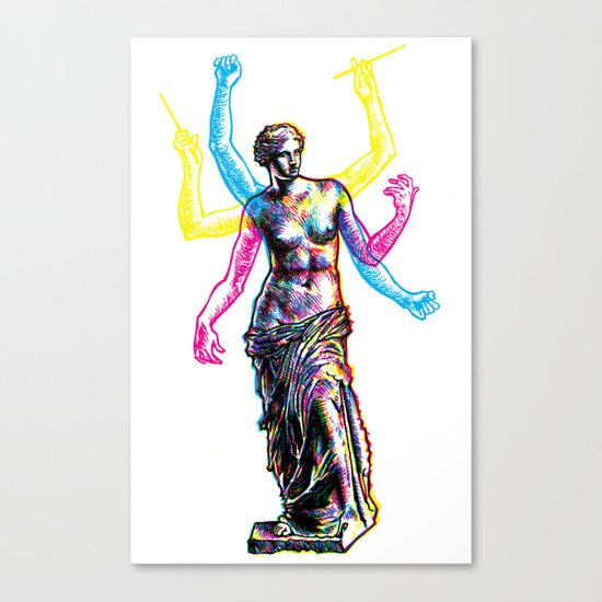 Venus de Milo is Made of Rock Canvas Print