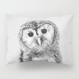 Baby Owl - Black & White Pillow Sham