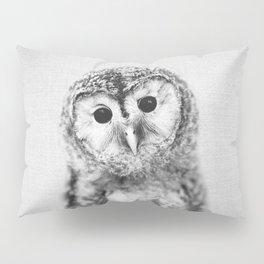 Baby Owl - Black & White Pillow Sham