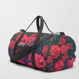 Love You & Red Roses Duffle Bag