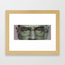 Walter White in 3D - Breaking Bad Framed Art Print