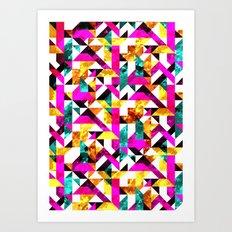 Textural Aztec Geometric  Art Print