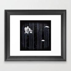 Snow Owls Framed Art Print