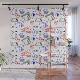 Food Hand draw pattern Wall Mural