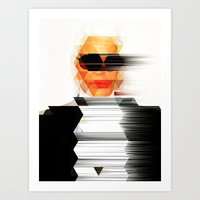 karl Art Prints featuring Karl vs. Karl by angelsnake