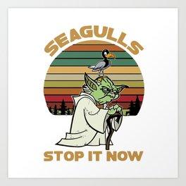 Seagulls Stop It - Vintage Art Print