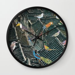 Bird Town Wall Clock