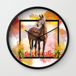 KY Thoroughbred Sunset Wall Clock