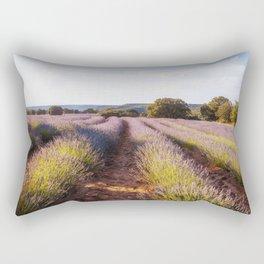 Lavender Fields at Sunset Rectangular Pillow