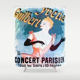 Vintage poster - Yvette Guilbert Shower Curtain