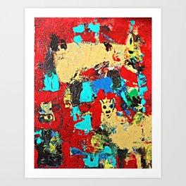 Mule Cow Alpaca Art Print