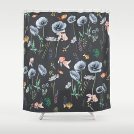 Fishes & Garden Shower Curtain