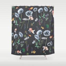 Fishes & Garden Shower Curtain
