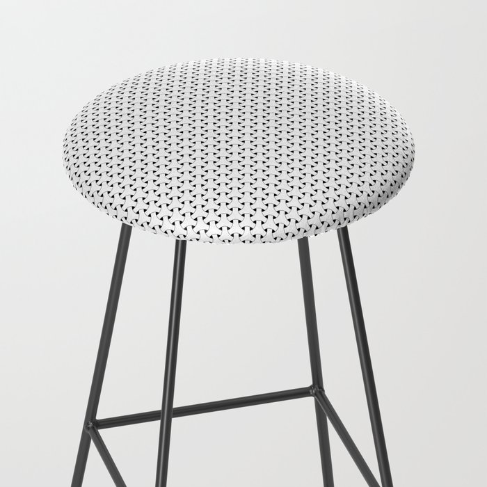 Black and White Basket Weave Shape Pattern - Graphic Design Bar Stool