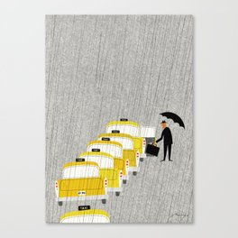 Taxi, New York Canvas Print