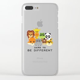 Dare to Be Different Gang of Animals Clear iPhone Case