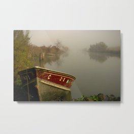 Boat on the Bypass Metal Print