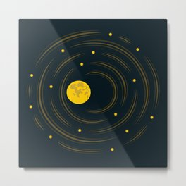 Moon And Stars Dream Metal Print