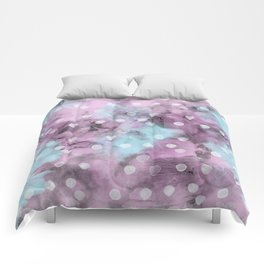 Watercolor Polka Dot Pattern Comforters
