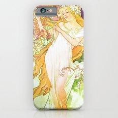 Alphonse Mucha Spring Floral Vintage Art Nouveau Slim Case iPhone 6s