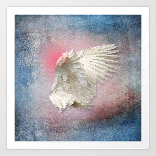Lost Angel Wing Art Print