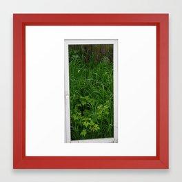 wild garden Framed Art Print