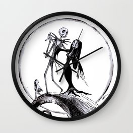 The Nightmare Family Inktober Drawing Wall Clock
