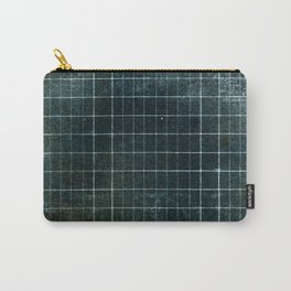 Weathered Grid Carry-All Pouch