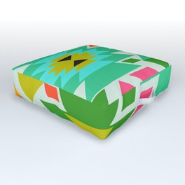 Ethnic with a tropical summer vibe Outdoor Floor Cushion