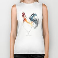 cock Biker Tanks featuring Cock by CALZADA by Katrin Kadelke