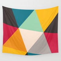 triangles Wall Tapestries featuring Triangles by Gary Andrew Clarke