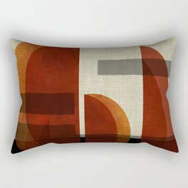 """Abstract Ships at Sunset"" Rectangular Pillow"