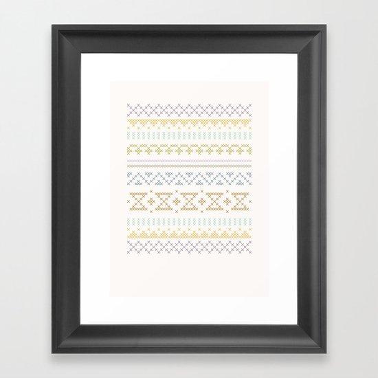 Stitched Framed Art Print