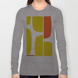 Split Shift Yellow Long Sleeve T-shirt