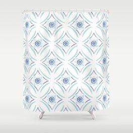 Hellenic Tiling Shower Curtain