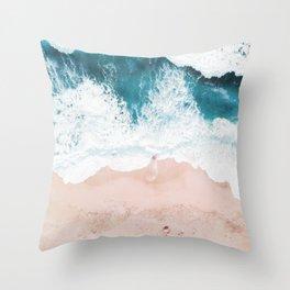 waves 01 Throw Pillow