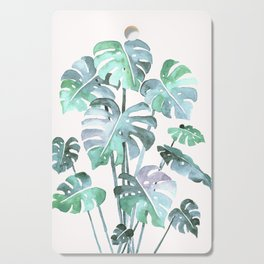 Delicate Monstera Blue And Green #society6 Cutting Board