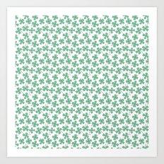 Four Leaf Clovers Art Print