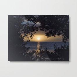 Framed Sunset Metal Print