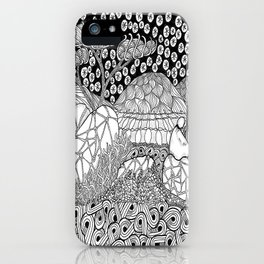 Zentangle Night Solitude iPhone Case
