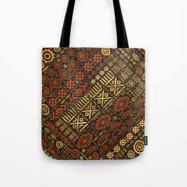 Ethnic African Pattern- browns and golds #5 Tote Bag