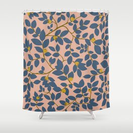 Botanical pattern with yellow berries Shower Curtain