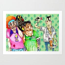 Big night out Art Print